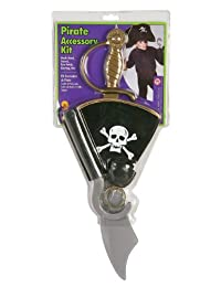 Rubie's Pirate Accessory Kit With Hat, Earring, Eye Patch, Hook Hand And Sword