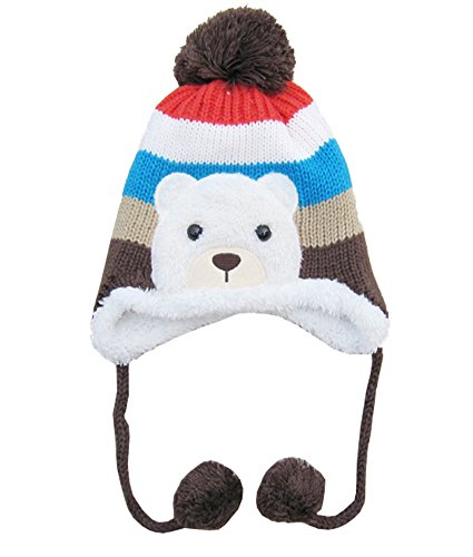 Price comparison product image MEYKISS Infant Cute Baby Girl Boys Knit Wool Polar Bear Beanie Winter Hat Cap Coffee