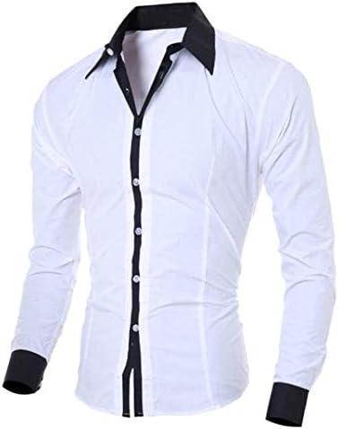 Camisa De Manga Larga para Hombre Blusa De Hombre Top Joven Moda De para Especial Estilo Hombre Camisa De Oficina para Hombre Slim Fit Tops De Hombre: Amazon.es: Ropa y accesorios