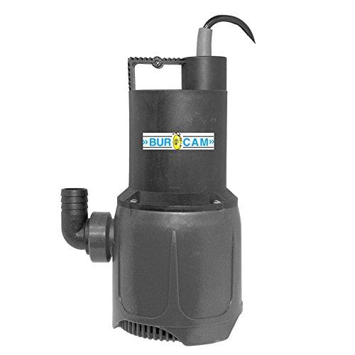 BurCam 300512 Submersible Fountain & Waterfall Utility Pump, 37 GPM, 1-1/4''