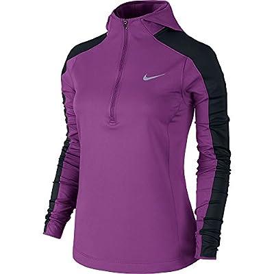Nike Thermal Dri-FIT Quarter-Zip Running Hoodie - Womens, Purple Dusk, LARGE