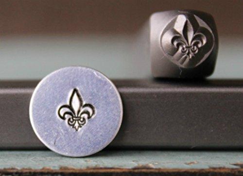 Brand New 6mm Fleur de Lis Metal Punch Design Stamp - Supply Guy - ()