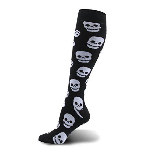 HLTPRO Compression Socks 20-30 mmHg Women & Men - 1/4/6 Pairs Compression Stockings for Running Nurse -