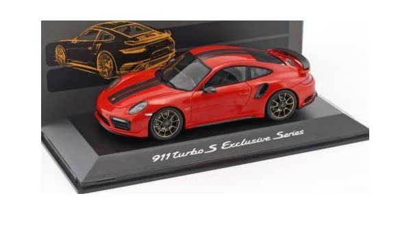 Amazon.com: Spark 1/43 Porsche 911 (991) Turbo S Exclusives Series Red Metallic custom-made: Toys & Games