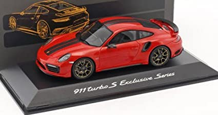 Spark SPARK 1/43 Porsche 911 (991) Turbo S Exclusives Series Red Metallic
