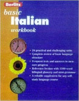 Book Berlitz Basic Italian Workbook by Anna Di Stefano (1998-02-01)