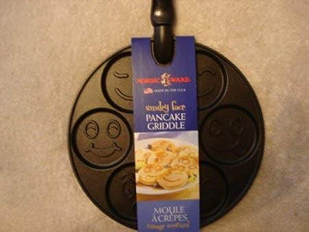 Nordic Ware 01920 - Sartén para tortitas y crepes, diseño Smiley: Amazon.es: Hogar