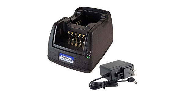 Power Products Single Slot Desktop Charger with Replaceable Pod for Harris XL-200P XL-185P XL-185Pi and XL-200Pi Two Way Radio Li-Ion and LiPo Batteries