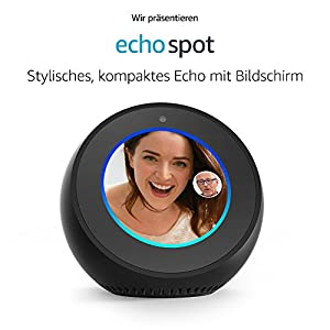 wir stellen vor amazon echo spot stylisches kompaktes. Black Bedroom Furniture Sets. Home Design Ideas
