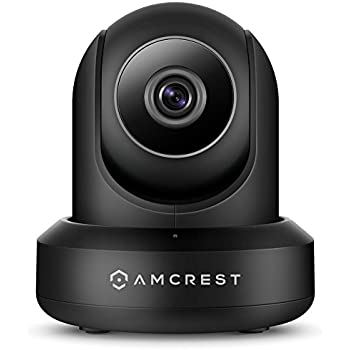 Amcrest ProHD 1080P POE (Power Over Ethernet) IP Camera with Pan/Tilt, Two-Way Audio, Optional Cloud Recording, Full HD (1920TVL) @ 30FPS, Wide 90° Viewing Angle and Night Vision IP2M-841EB (Black)