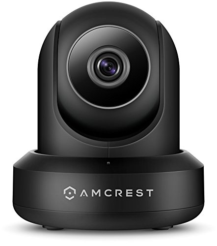Pan Power - Amcrest ProHD 1080P POE (Power Over Ethernet) IP Camera with Pan/Tilt, Two-Way Audio, Optional Cloud Recording, Full HD (1920TVL) @ 30FPS, Wide 90° Viewing Angle and Night Vision IP2M-841EB (Black)