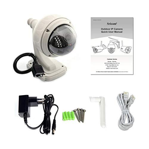 Baynne 360 Grados de la cámara del Monitor rotatorio HD 720P inalámbrico al Aire Libre WiFi Cámara Domo IP CCTV Seguridad...