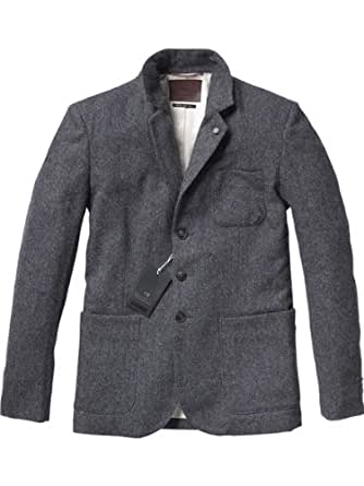 Scotch & Soda Men's Japanese Styled Blazer, Gray, Small