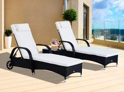 Pleasing Amazon Com Sun Loungers Outdoor Lounge Chairs For Pool Ocoug Best Dining Table And Chair Ideas Images Ocougorg