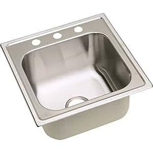 Elkay DPC1202010MR2 20 Gauge Stainless Steel Single Bowl