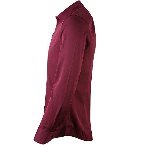 734d22dbcbcf Men's Bamboo Fiber Dress Shirts Slim Fit Solid Long Sleeve Casual Button  Down Shirts, Elastic
