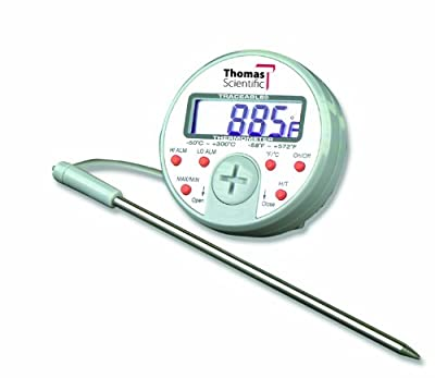 """Thomas Traceable Ultra Full-Scale Plus Thermometer, 5.75"""" Probe Length, -58 to 572 degree F"""