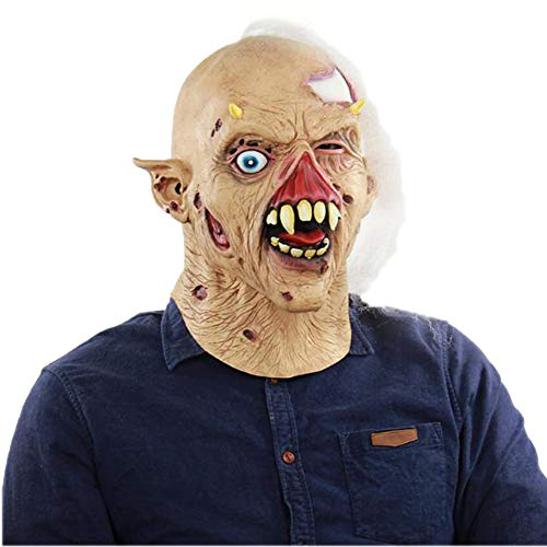 Halloween Scary Latex Head Masks Cosplay Party Novelty Costume Funny Masks for Unisex Adult or Kids(05) ()