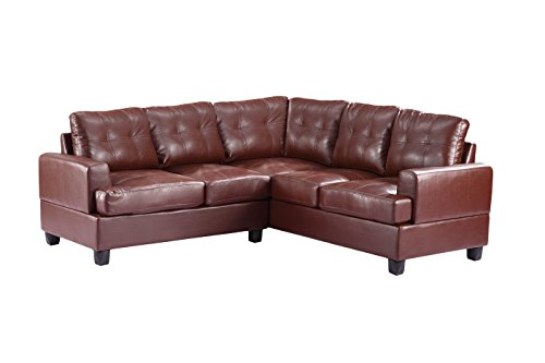 Glory Furniture G580B-SC Sectional Sofa, Brown, 2 boxes