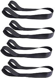 VOSAREA 4Pcs Ski Boot Carrier Strap Elastic Snowboard Boot Shoulder Sling Leash for Ice Skates
