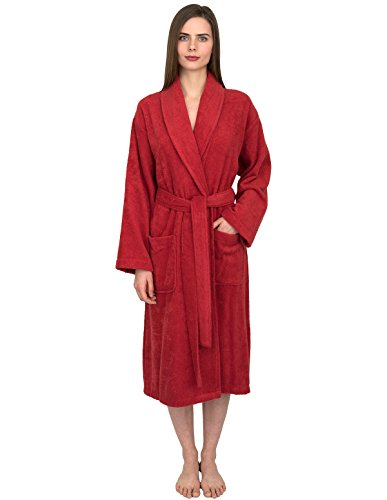 - TowelSelections Women's Robe, Turkish Cotton Terry Shawl Bathrobe Large/X-Large Cranberry