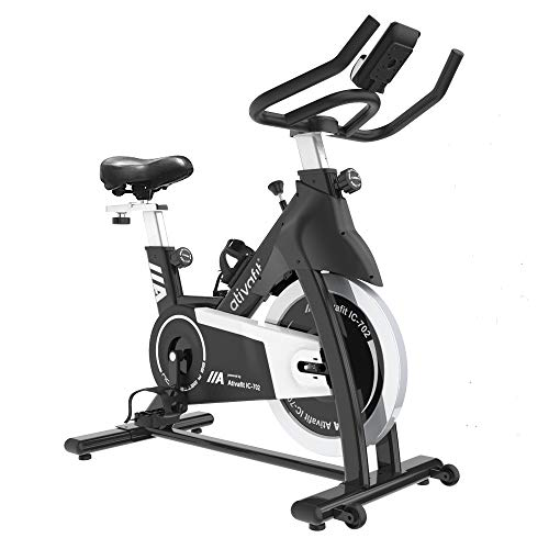 Ativafit Exercise Bike Stationary Indoor Cycling Bike 35 lbs Flywheel Belt Drive Workout Bicycle Training LCD Monitor…