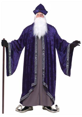 Forum Novelties Men's Grand Wizard Deluxe Designer Adult Plus Size Costume, Purple, 3X-Large (Wizard Costume For Adults)
