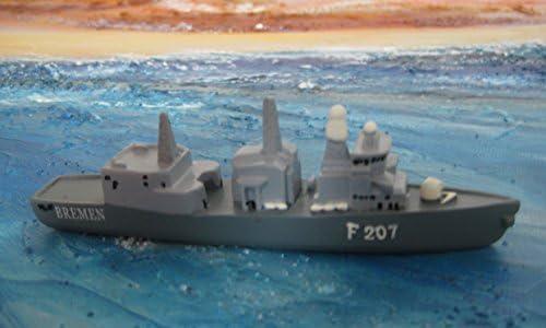 Schiffsmodell Marine Fregatte Bremen F207 Miniatur Boot Schiff ca. 12 cm