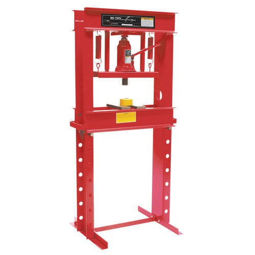 20 Ton Shop Press (Sunex 5720 Fully-Welded Manual Hydraulic Shop Press, 20 Tons)