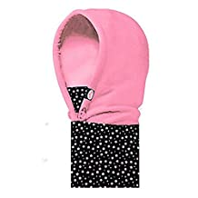 WATERFLY Kids Neck Warmer Fleece Hoods Ski Balaclava Hat Winter Cap Scarf Face CS Mask