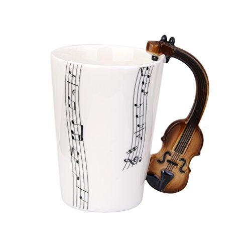 MagiDeal Violin Shaped Handle Porcelain