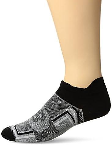 New Balance Hydrotec No Show Thin Double Tab Socks, Grey, Men's 7.5-9/Women's 6-10