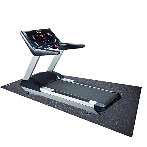 "RevTime Treadmill Mat 6.5'x3' (78""x36"")Heavy Duty Fitness Equipment Rubber Mat Black"