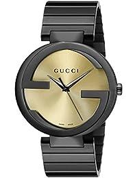 Interlocking Collection Black Stainless Steel Men's Watch(Model:YA133209)