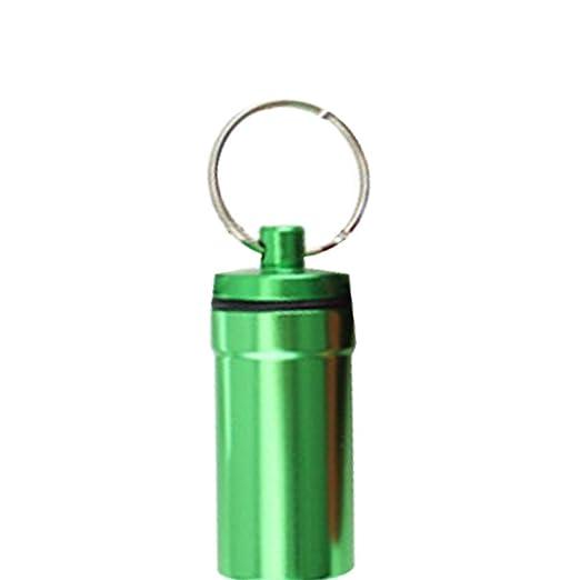 Szseven Organizadores De Píldoras De Aluminio Botella Pequeña Píldora Práctico Llavero Colgante Impermeable Portátil para Acampar Al Aire Libre ...