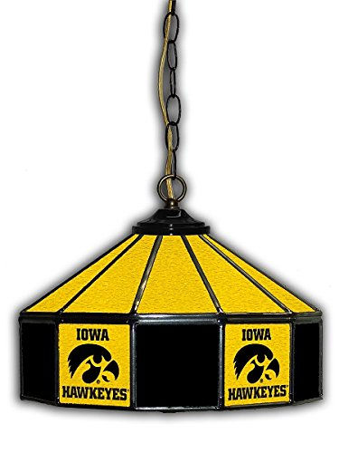 Official Licensed NCAA UNIVERSITY OF IOWA 14'' Glass Pub Lamp by Imperial International by Imperial