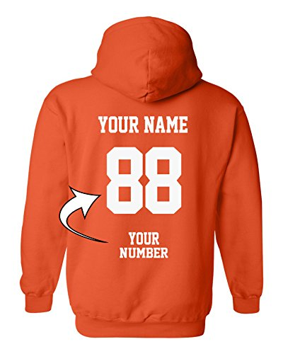 Design Your OWN Hoodie - Custom Jersey Hoodies - Pullover Team Sweatshirts Orange