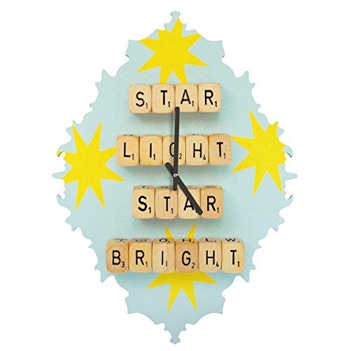 Deny Designs  Happee Monkee, Star Light Star Bright, Baroque Clock, Medium by Deny Designs