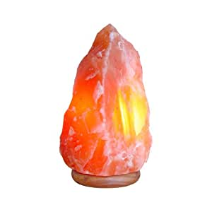 Indus Classic, One Tall Himalayan Natural Crystal Rock Salt Lamp with Cord, Bulb 15-20 Lbs. Great Gift Idea