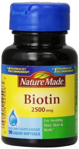 Nature Made Biotin 2500mcg, Softgels, 90-Count (Pack of 3) by Nature Made