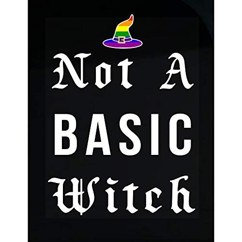 DOLCE INDIGO LGBT Gay Pride Not a Basic Witch Funny Halloween - Transparent Sticker