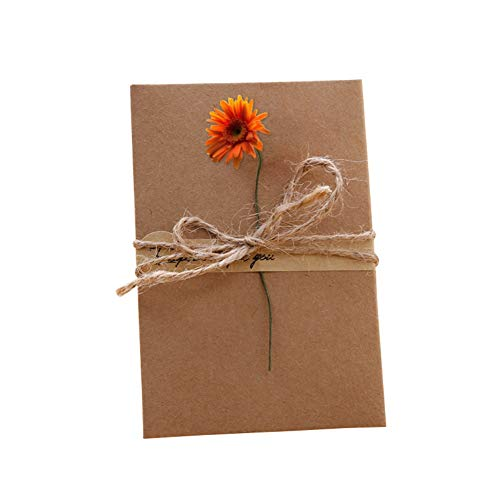 Valcatch Valentine's Day Kraft Paper Artificial Flower Greeting Card Event Party Cards Invitations from Valcatch