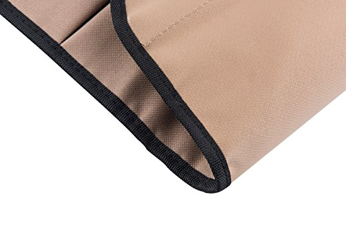 Tebery 600D Oxford Cloth Heavy Duty Work Apron, Adjustable and Durable Tool Aprons - Khaki by Tebery (Image #3)