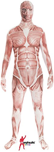 "Muscle Morphsuit Fancy Dress Costume - size Large - 5""5-5""9 (163cm-175cm) (Fancy Dress Costume)"
