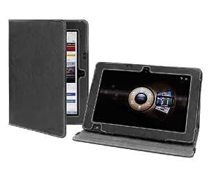 Cover-Up – Funda de cuero para Acer Iconia Tab W500 / W501 / W500P (W500-BZ467) 10.1-pulgadas Tablet (versión con soporte) – color negro