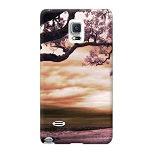 Shockproof Cell-phone Hard Covers For Samsung Galaxy Note 4 (Akr10937FXWU) Unique Design HD Purple Nature Image