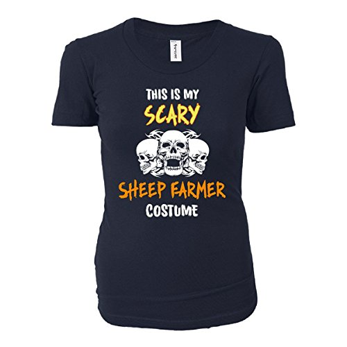 [This Is My Scary Sheep Farmer Costume Halloween Gift - Ladies T-shirt] (Farmers Daughter Halloween Costume)