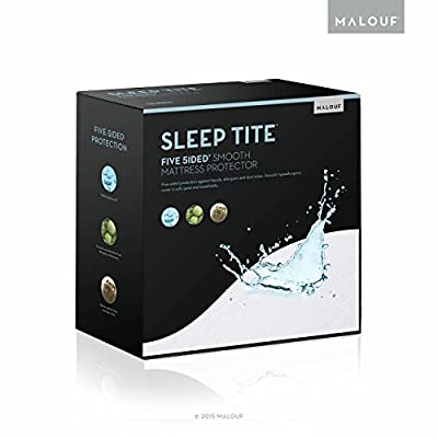 MALOUF SLEEP TITE FIVE-5IDED Hypoallergenic Mattress Protector - 100% Waterproof - 15 Year Warranty