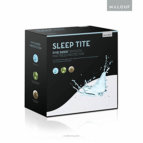 Malouf SLEEP TITE Five Sided Mattress Protector - 100% Wa...