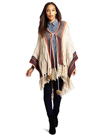 Lucky Brand Women's Boho Poncho Sweater